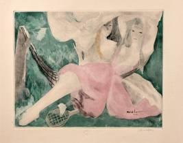Jacques Villon, jeunes filles au tennis d'après Marie Laurencin