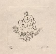 Jean Fautrier, petits nus, gravures