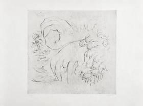 Jean Fautrier, étude de mains, gravure