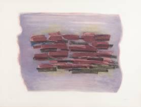 Jean Fautrier, paysage labouré, gravure