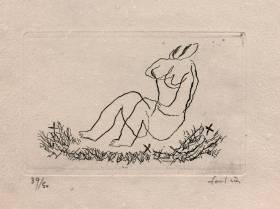 Jean Fautrier, petit nu J, vente aux enchères