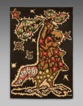 Jean Lurçat, fanfare sur fond noir, tapisserie