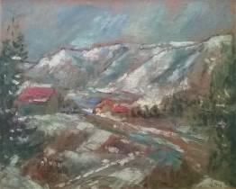 Jean Puy, la vallée de Sallanches, huile