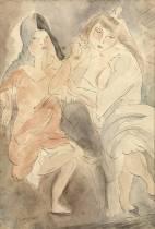 Jules Pascin, filles de joie, aquarelle