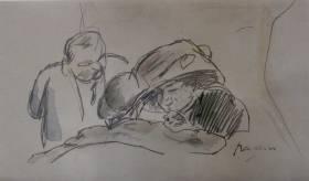 Jules Pascin, Confidence, dessin