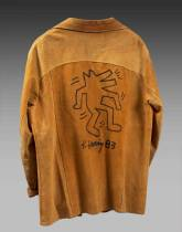 Keith Haring, dessin original sur veste
