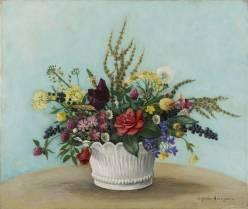 Kioshi Hasagawa, bouquet de fleurs, tableau