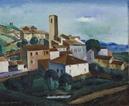 Kioshi Hasegawa, site provençal, tableau