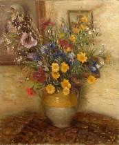 Marcel Dyf, trois tableaux de fleurs et nature morte