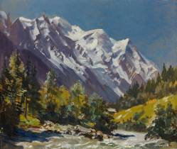 Marcel Wibault, Le Mont Blanc vue d'Argentières, tableau