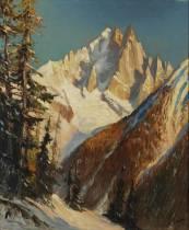 Marcel Wibault, tableau, paysage de neige