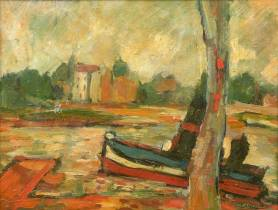 Maurice Larue, bateau, tableau