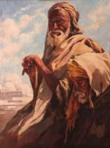 Max Moreau, deux hommes pensifs, tableau