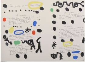 Joan Miro, six patiences, lithographie