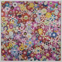 Takashi Murakami, flowers, estampe