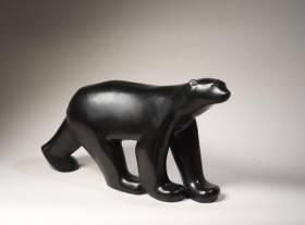 François Pompon, ours blanc, bronze, certificat Colas