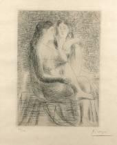 Pablo Picasso, eau forte, vente aux enchères