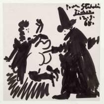 Pablo Picasso, chez le médecin, dessin