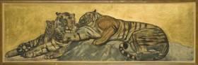 Paul Jouve, tigres au repos, 1932