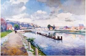 Paul Mathieu, vue du Pont de Jambes