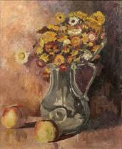 Jean Peské, vase de fleurs, tableau