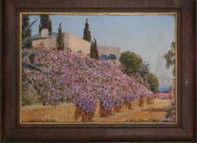 Alexandre Roubtzoff, Sidi Bou Said paysage fleuri