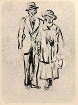Antonio Recalcati, couple, dessin