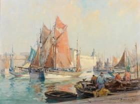 Robert Laroche, port de Concarneau, tableau