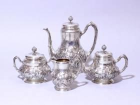 Fabergé, exceptionnel service à thé et café