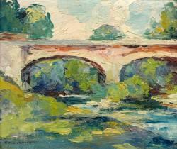 Victor Charreton, le pont, tableau