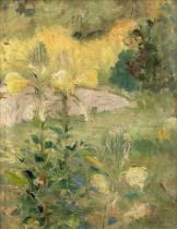 Victor Charreton, bord de lac au printemps, tableau