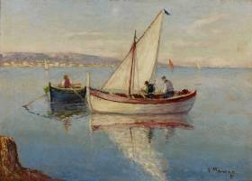 Vincent Manago, les pêcheurs, tableau
