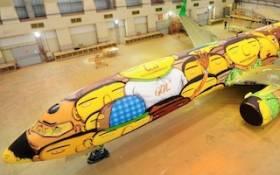 L'avion de l'équipe de foot du Brésil bombé !
