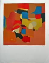 Roland Bierge, lithographie, composition