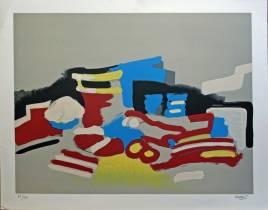 Roland Bierge, composition, lithographie