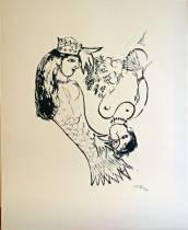 Marc Chagall, la sirène, lihographie