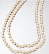 Collier de perles Akoya double rangs