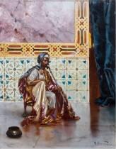 Rudolf Ernst, le fumeur de Chibouk, tableau