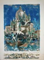 Lucien Fontanarosa, Venise, lithographie