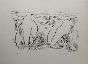 André Masson, nu érotique, lithographie