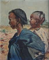 Henri Pontoy, mère et enfant, tableau