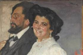 Valentin Serov, portrait des Gruzenberg, tableau