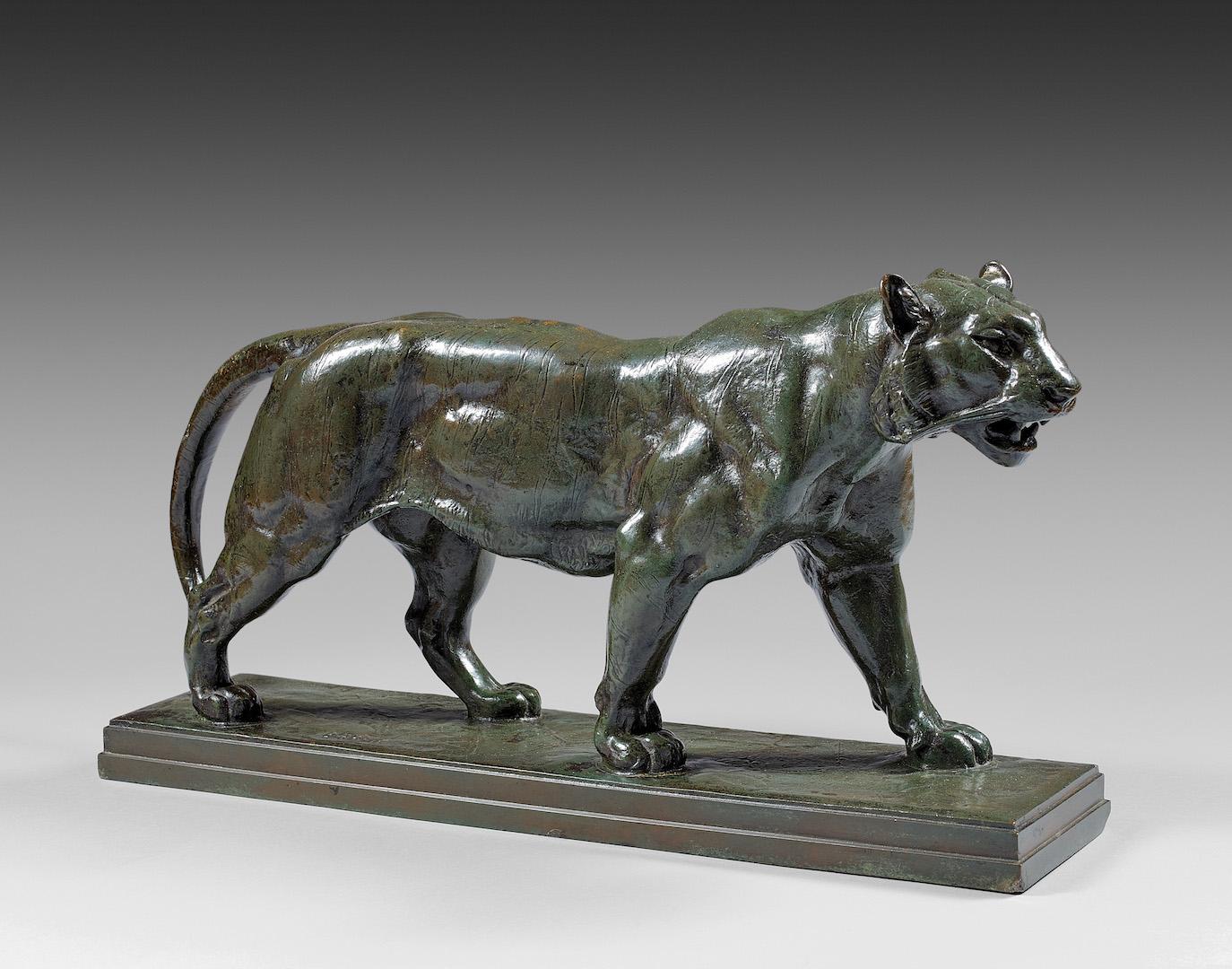 sculpture bronze tigre