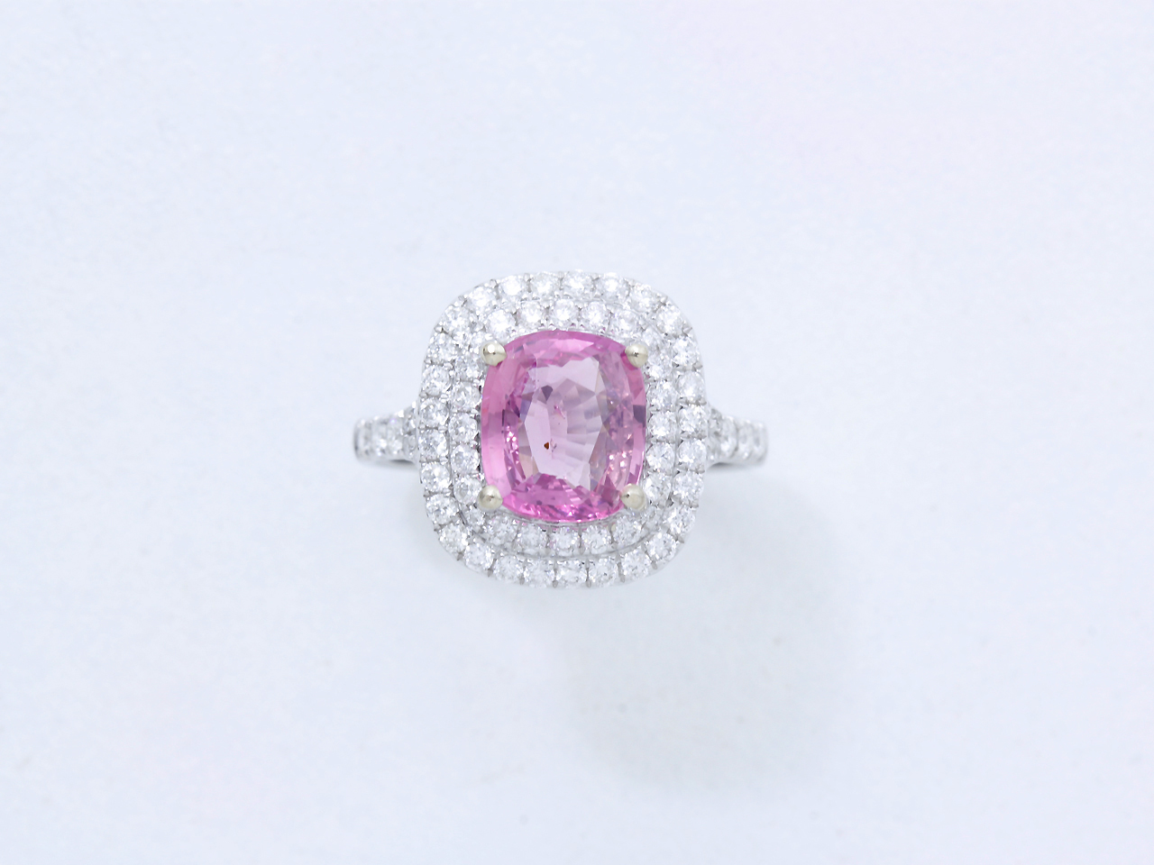 Häufig Bague saphir rose - - Expertisez.com GH55