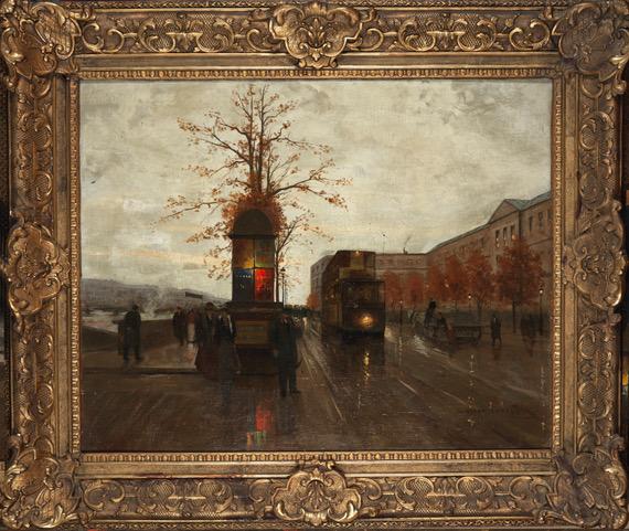 Edouard Cortes Le Quai Du Louvre Vers Le Pont Des Arts Tableau Expertisez Com