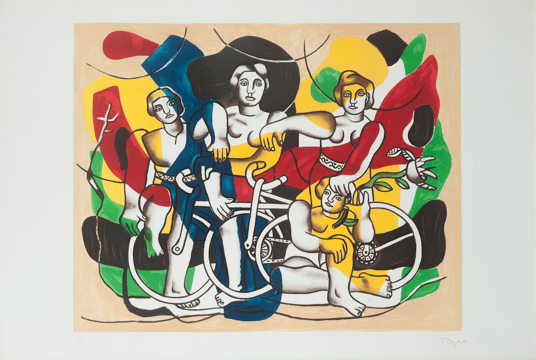 Fernand l ger personnages lithographie for Telephone leger