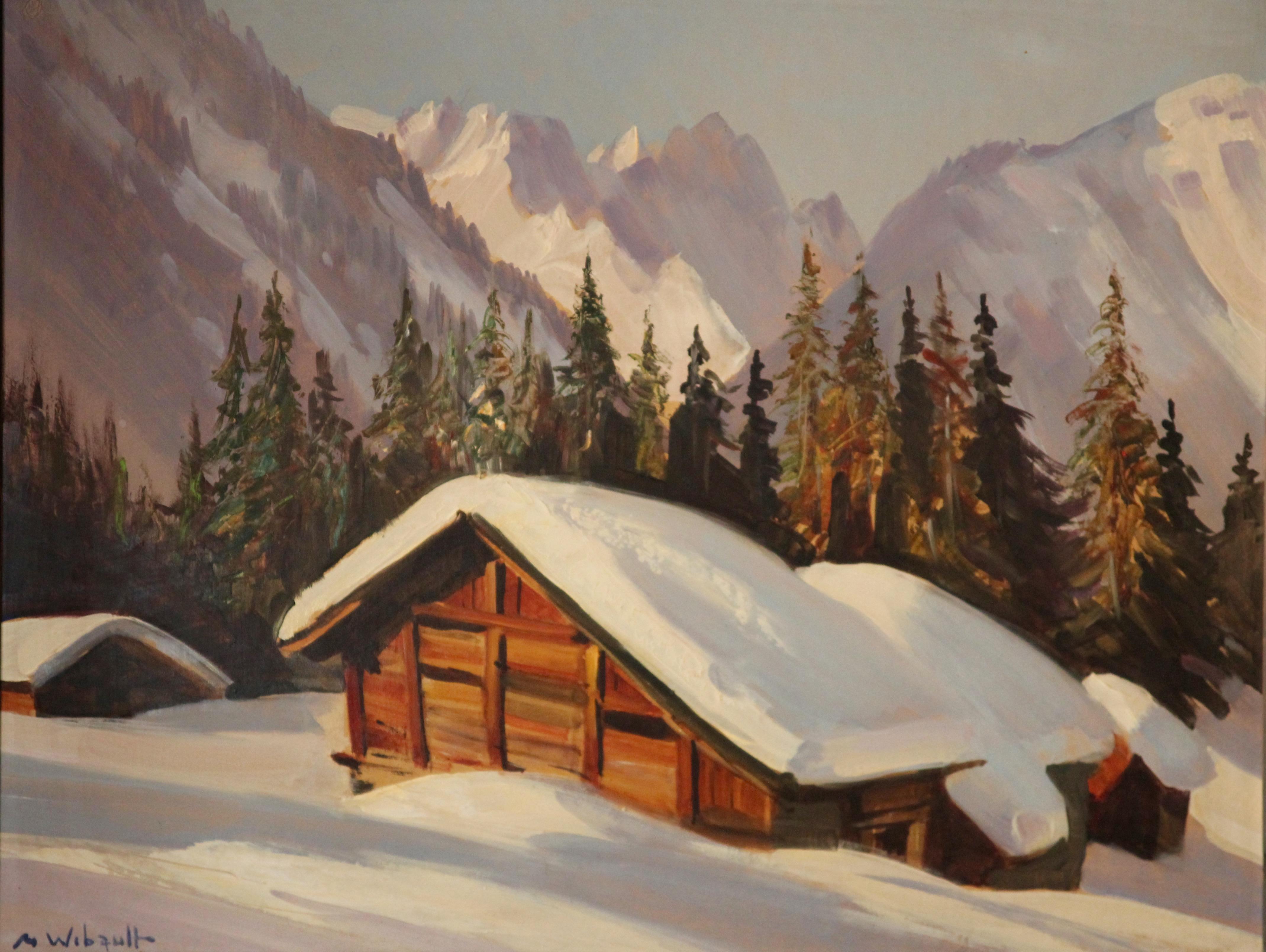 marcel wibault chalets sous la neige tableau. Black Bedroom Furniture Sets. Home Design Ideas