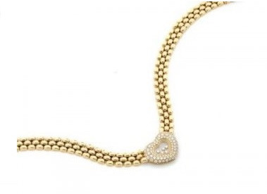 Chopard, collier or Happy Diamonds
