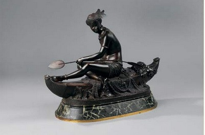 Duchoiselle, indienne, sculpture en bronze