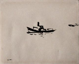 Albert Marquet, bateau, dessin